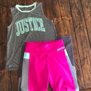 Justice set of Yoga pants and top.
